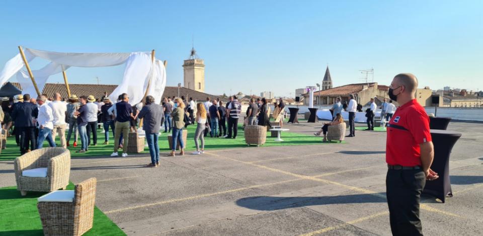 Sécurisation de l'inauguration du centre commercial coupole de Nîmes